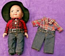 Jeans advertising doll cowboy