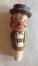 Italy hand carved painted wood cork