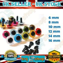 Safety plastic eyes colorful black
