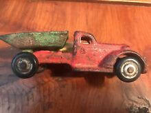 Cast iron dump truck original red