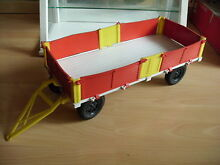 Big trailer in white red yellow