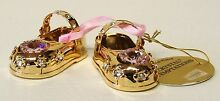 G 4001 gold baby shoes pink