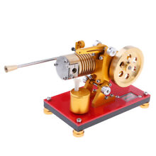 Hot air flame licker flywheel motor