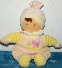 Russ plush baby doll yellow lovey
