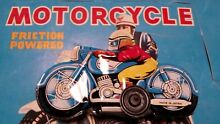 Motorcycle tin toy penny toy bike