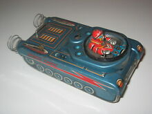 Space tank japan battery tin toy