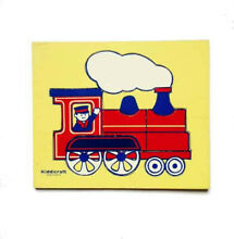 Wooden simple puzzle of a train 9 3