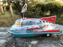 Tin toy mini sonicon rocket pull