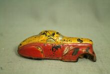 Old s sun rubber toy car