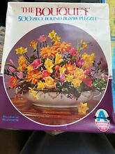 Ltd 500 piece round puzzle bouquet