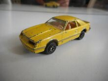 Ford mustang in yellow
