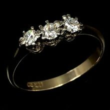 Art deco 18k 750 yellow gold early