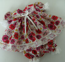 Bright floral dress knickers set
