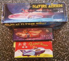 3 chinese tin plate space toys