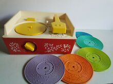 Fisher price record player toy 1971