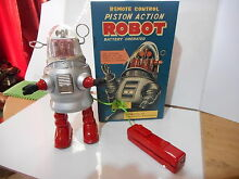 Tole tin toy action robby remote
