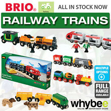 Railway trains for wooden train set