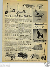 1954 paper ad ride em toy truck