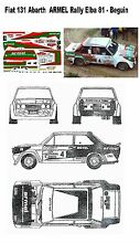 Decal fiat 131 armel beguin rally