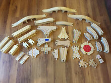 Compatible wooden train track