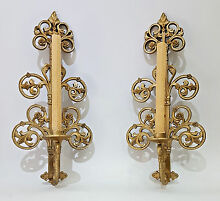 Candle holder pair mid century