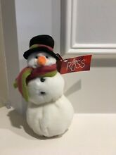 New co plush 7 snowman red green