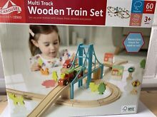 Carousel wooden train set multi