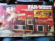 French toy coffret bois far west