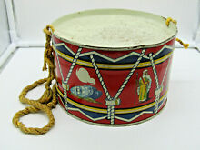 Early the series tinplate toy drum