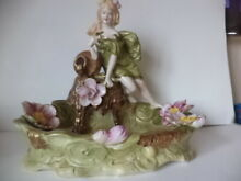 Porcelain lady flowers and water