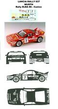 Decal lancia rally 037 wurth rally