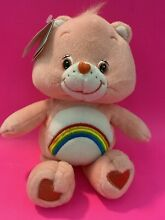 Pink plush cheer bear rainbow