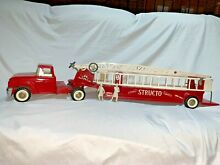 50 s or 60 s fire ladder truck