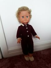 Doll blonde curly rooted hair