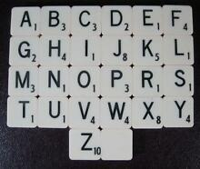 Replacement tiles letters a z