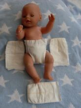4 disposable dolls nappies 15 20ins