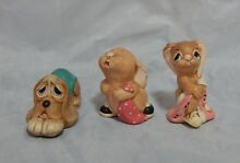 3 figurines barney pooch totty