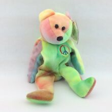 Ty beanie baby 1996 paix ours avec