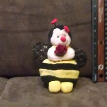 Bumble bee named bezzy plush