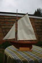 Lovely gaff rigged model cutter