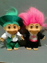 """Vintage Troll 5/"""" ARTIST PAINTER  by RUSS Doll w//Hot Pink Hair NEW"""