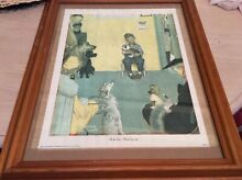 Framed print at the vets print