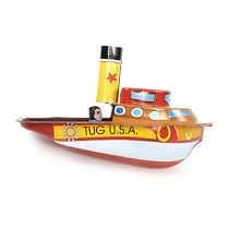 Tug boat classic candle powered tin