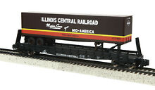 Mth illinois central flat w trailer