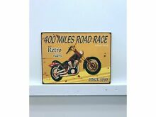 Road race wooden sign
