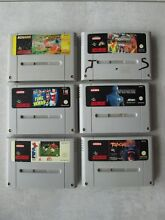 Lot de 6 jeux super nes nintendo