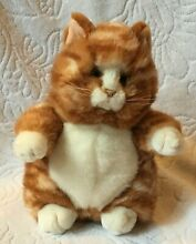 9 plush stuffed animal cat tabby