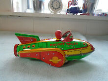 Great tin plate rocket racer toy