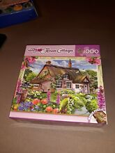 1000 piece flower cottages
