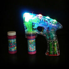 Bubble ray gun fun light up